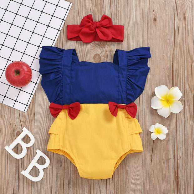 New Baby Girl Clothes Bowknot Romper Bodysuit Jumpsuit Outfit Summer