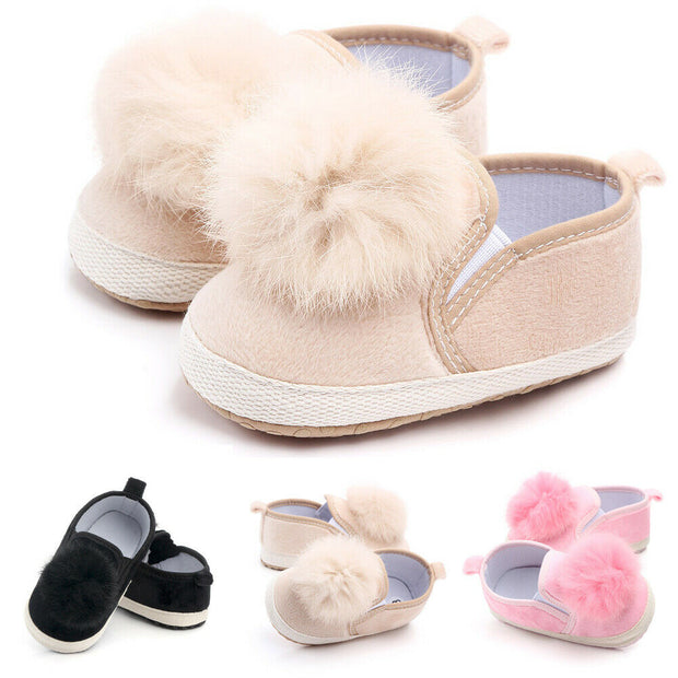 New Toddler Baby Girl Soft Sole Crib Shoes Anti-slip Pram Prewalker Sneakers