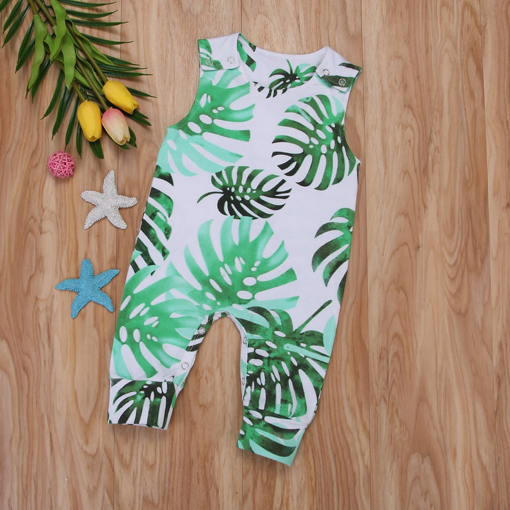 Infant Newborn Baby Girl Boy HawaiiSleeveless Romper Leggings Jumpsuit Outfits