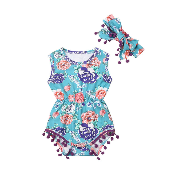 New Infant Baby Girls Bodysuits Clothes Playsuit Outfit Floral Jumpsuit