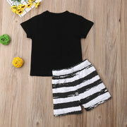 Newborn Baby Boy Clothes Cotton T-Shirt Top+Short Striped Pants 2pcs Casual Summer Clothes