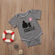 New Casual Cute Newborn Baby Girl Clothes Print Letter daddy's princess Romper Short Sleeve Jumpsuit Clothes Outfits