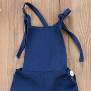 NEW Toddler Kids Girls Clothing Denim Strap Bib Pants Romper Jumpsuit Playsuit Backless Fashion Clothes Baby Girl