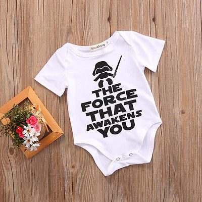 Cotton The force Romper Newborn Toddler Baby Boy Girl Romper Jumpsuit Clothes Outfits