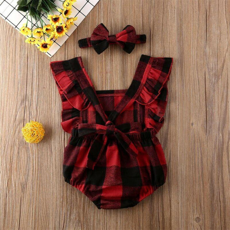 Buffalo Check Baby Romper
