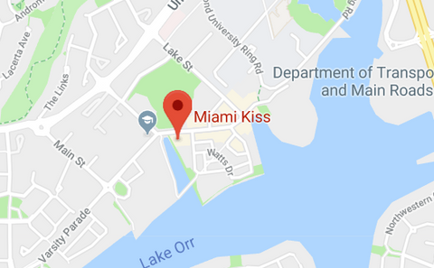 How to Find Miami Kiss 191 Varsity Lakes Gold Coast - just look for the flags