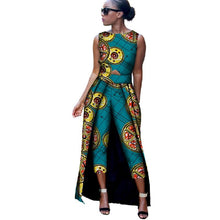 Load image into Gallery viewer, 2 Piece Dashiki Top and Mid Calf Trouser Set
