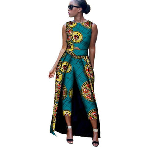 2 Piece Dashiki Top and Mid Calf Trouser Set