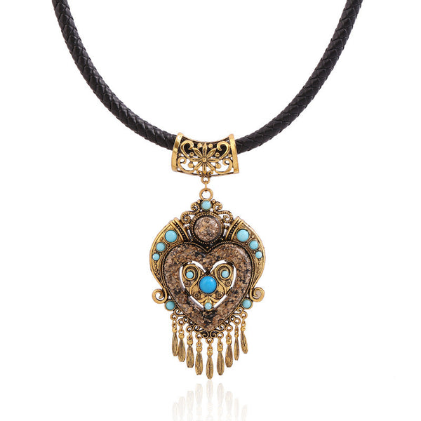 LOVBEAFAS Collares Mujer Choker Bohemian Necklace 2019 Fashion Collier Femme Jewelry Tassel Maxi Statement Necklaces & Pendants