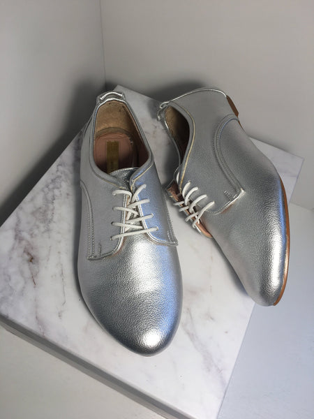 Zapatos Oxford Plata