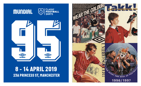 COME TO '95': AN EXHIBITION CELEBRATING UMBRO'S DIAMOND ANNIVERSARY