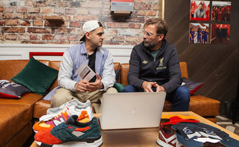 JÜRGEN KLOPP CREATES CUSTOM NEW BALANCE TRAINERS WITH THE DROP DATE