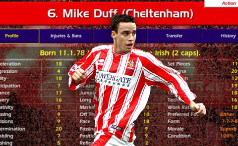 CHAMP MANAGER'S MIKE DUFF WAS YOUR GO-TO BRICK WALL DEFENDER