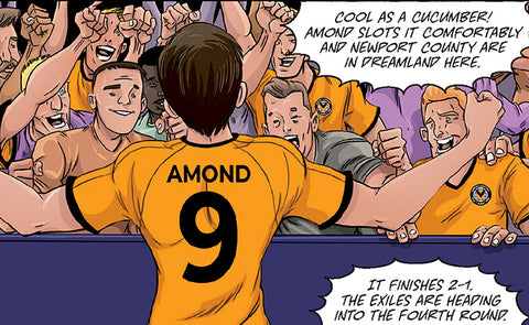 FOUR FA CUP HEROES ARE NOW ROY OF THE ROVERS COMIC STRIPS