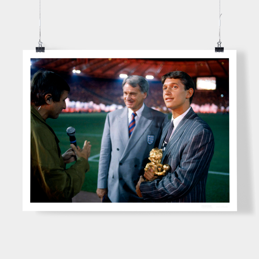 BOBBY ROBSON & GARY LINEKER, ITALIA 90 - WELL OFFSIDE PHOTOGRAPHY