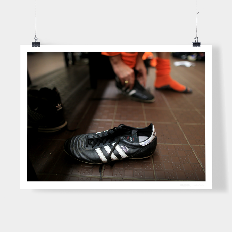 CHRIS WADDLE'S COPA MUNDIAL BOOT, SHEFFIELD, 2014 - WELL OFFSIDE PHOTOGRAPHY