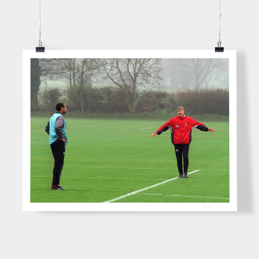 THIERRY AND ARSENE, ARSENAL, 2001 - WELL OFFSIDE PHOTOGRAPHY