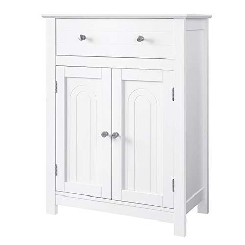 VASAGLE Free Standing Bathroom Storage Cabinet with Drawer and Adjustable Shelf