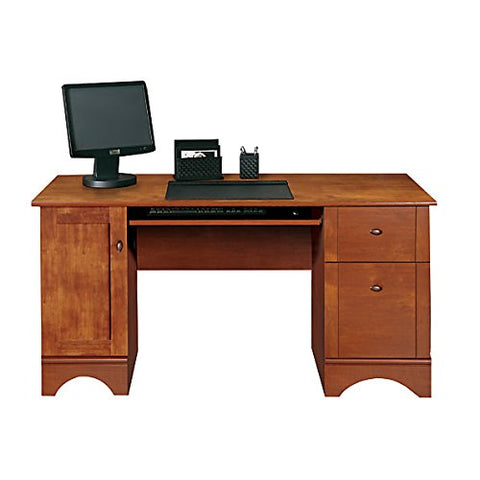 "Realspace Dawson 60"" Computer Desk, Brushed Maple Item # 891544"