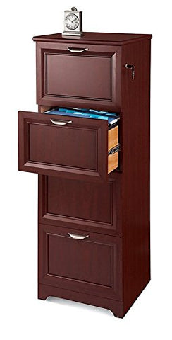 "Realspace Magellan Collection 4-Drawer Vertical File Cabinet, 54""H x 18 3/4""W x 19""D, Classic Cherry"