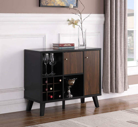 eHomeProducts Console Table Buffet Sideboard with 9 Bottles Holder