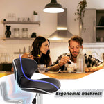 New Modern Adjustable Synthetic Leather Swivel Bar Stools Chairs-Sets of 2