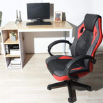 Coavas Computer Chair Game Chair Racing Chair Office High Back PU Leather Computer Gaming Chair Executive Swivel Task Desk Chair(Black+ red)