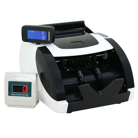 ZENY Currency Cash Bill Counter Automatic Money Counting Machine UV Detection & MG Counterfeit Bill Detection