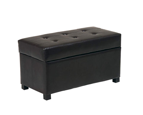 Office Star Metro Storage Ottoman in Eco Leather