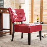 Roundhill Furniture Blended Leather Tufted Accent Chair with Oversized Seating