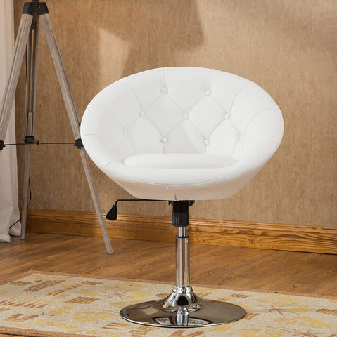 Roundhill Furniture Noas Contemporary Round Tufted Back Tilt Swiviel Accent Chair