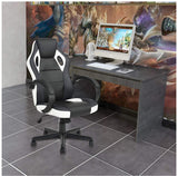 FurniFuture Computer Chair Game Chair Racing Chair Office High Back PU Leather Executive Swivel