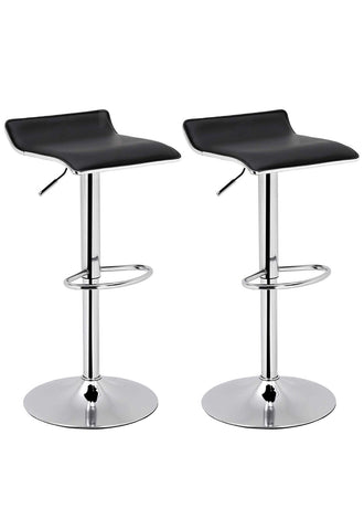 Available Set of 2 Modern Hydraulic Barstools Counter Black / Grey
