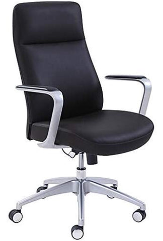 La-Z-Boy Savona Adjustable Height Ergonomic Leather Managers Chair (Black)