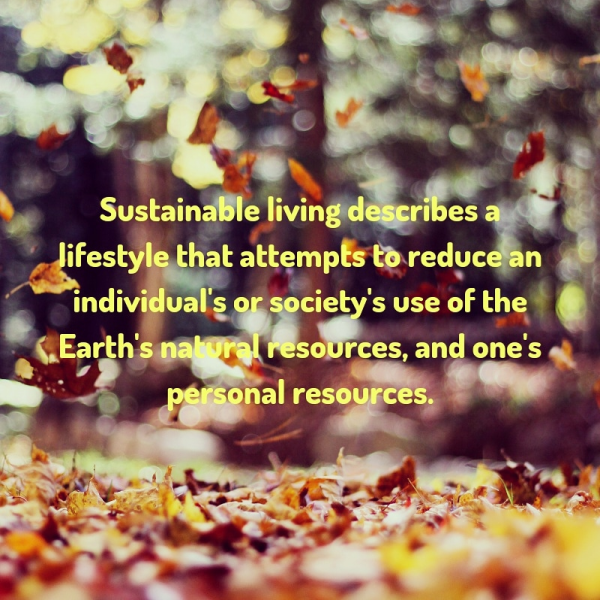 Leading a sustainable life