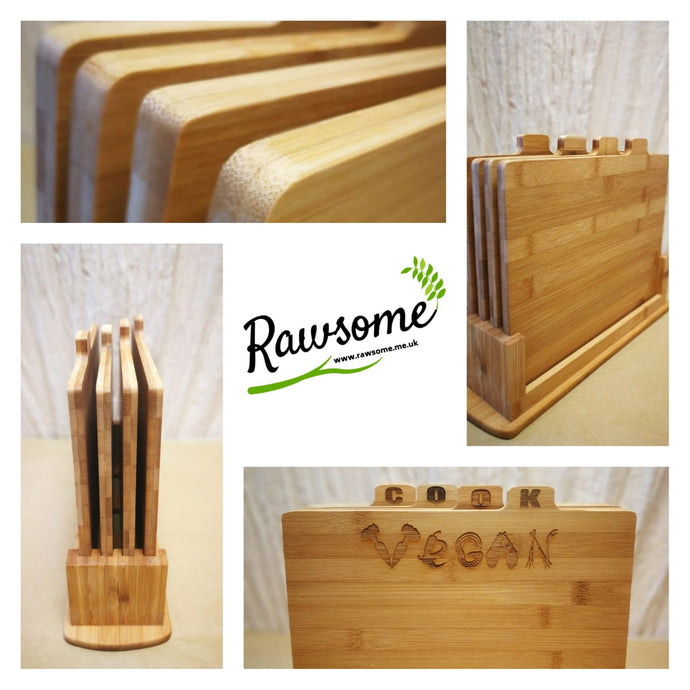 Our Bamboo Chopping Boards with Holder