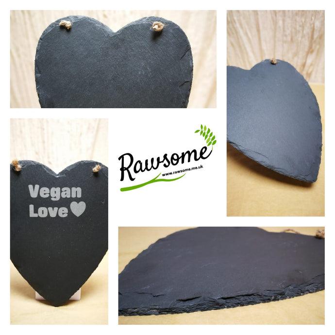 Our Large Natural Heart Slate With Rope