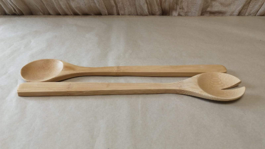 Bamboo Salad Serving Utensils | Sustainable Gift | Rawsome