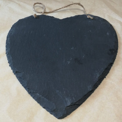 Large Natural Heart Slate With Rope | Sustainable Gift | Rawsome