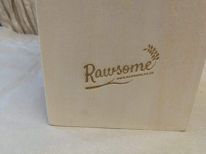 'Merry Christmas' One Bottle Wooden Wine Box | Sustainable Gift | Rawsome