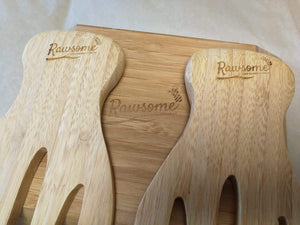 Bamboo Salad/Pasta Bowl with Two Hands | Sustainable Gift | Rawsome