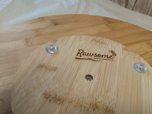 Lazy Susan Bamboo Wood Rotating Tray | Sustainable Gift | Rawsome