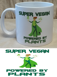 Super Vegan (Female) Coffee Mug | Unique Gift Idea | Rawsome