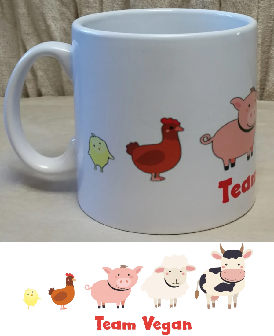 Team Vegan Coffee Mug | Unique Gift Idea | Rawsome