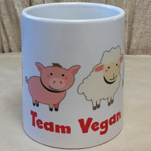 Load image into Gallery viewer, Team Vegan Coffee Mug | Unique Gift Idea | Rawsome