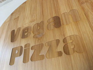 'Vegan Pizza' Bamboo Serving Board | Sustainable Gift | Rawsome