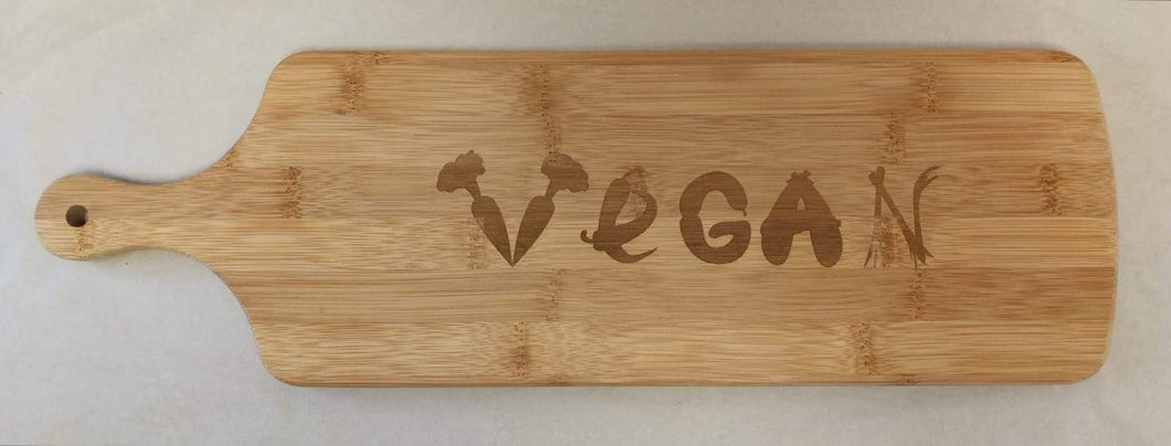 'Vegan' Bamboo Bread Board Long | Sustainable Gift | Rawsome