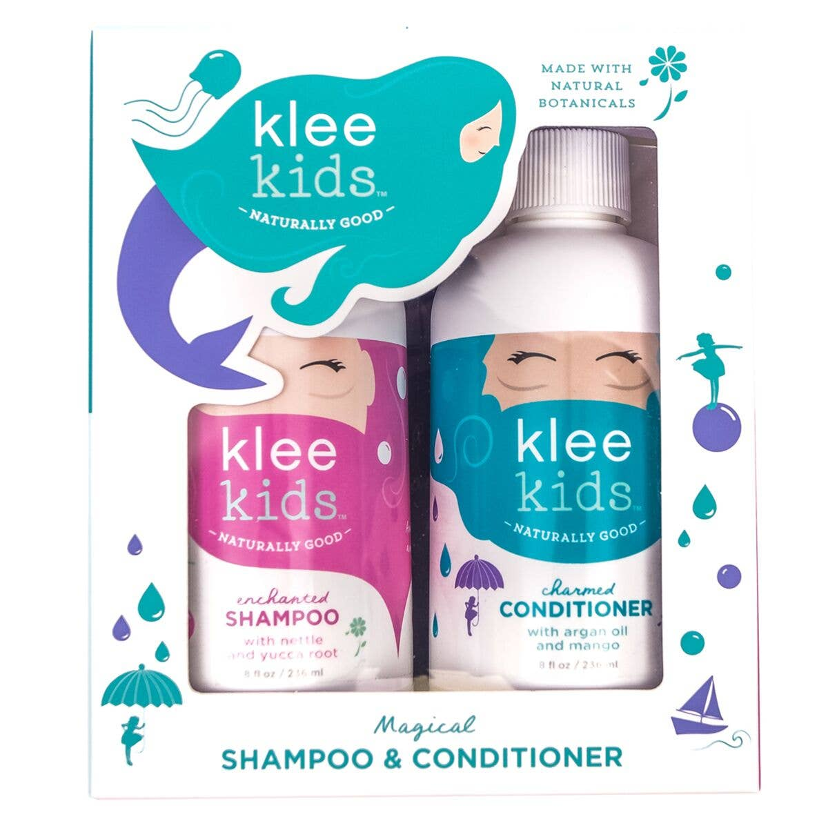 Klee Naturals - Klee Kids Enchanted Shampoo and Charmed Conditioner Set