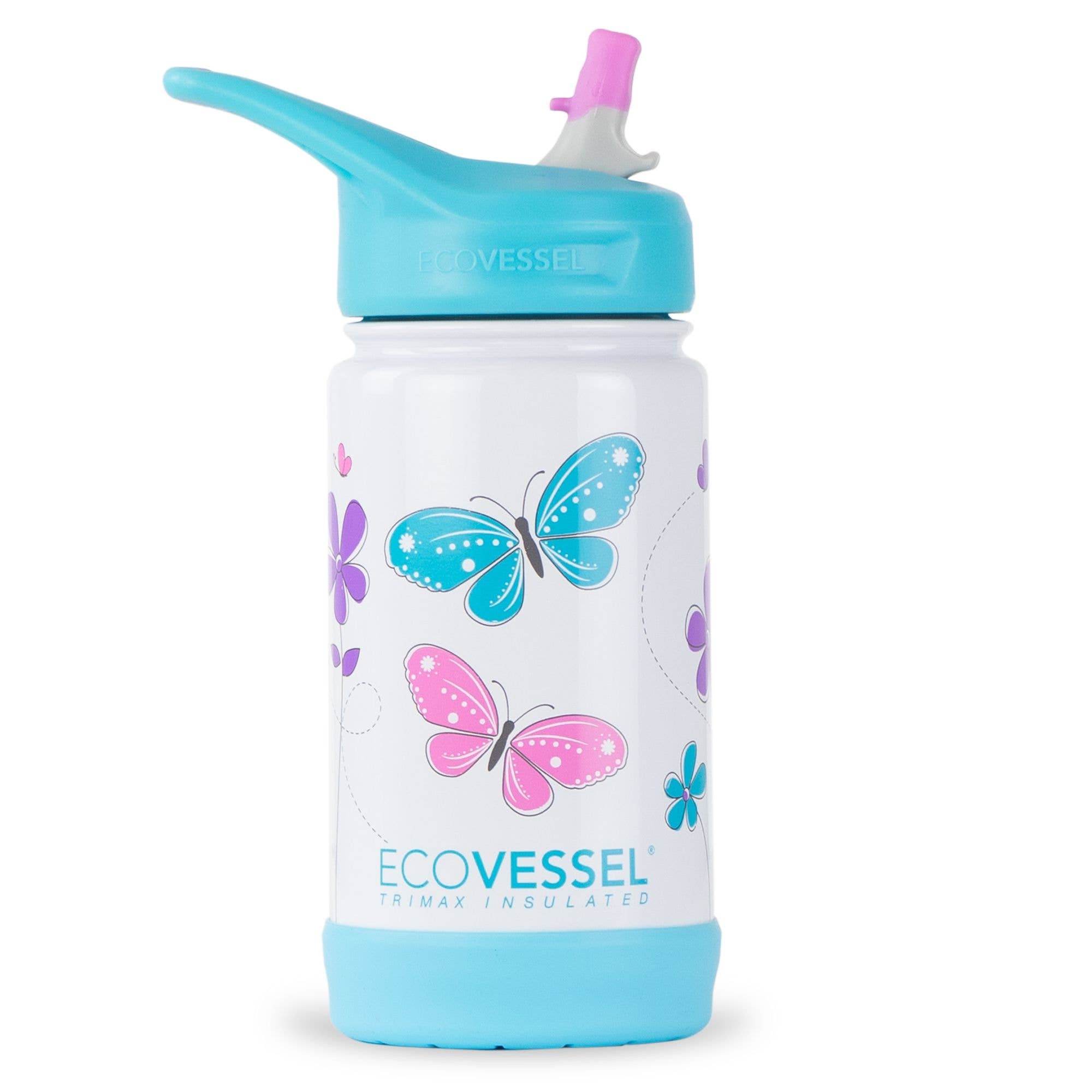Insulated Stainless Steel Kids Bottle - Butterfly