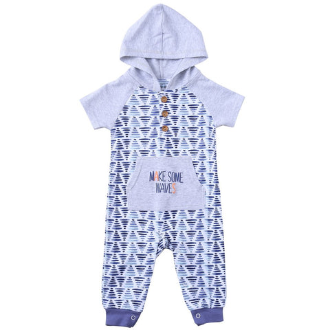 Make Some Waves Hooded Romper